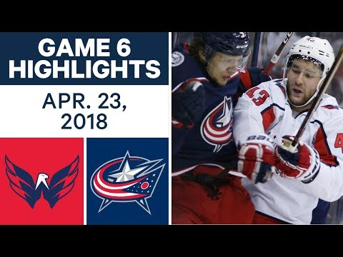 NHL Highlights  Capitals vs. Blue Jackets, Game 6 - Apr. 23, 2018