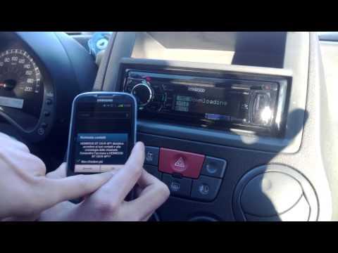 Funzionalità di un Autoradio Bluetooth generica - Riproduzione della Musica + Chiamate