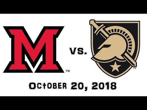 October 20, 2018 - Miami (Ohio) RedHawks Vs. Army Black Knights Full Football Game