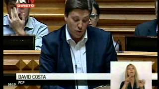 Intervenção de David Costa em resposta ao PSD no debate em torno do Projecto de Resolução do PCP que propõe medidas visando a defesa do carácter público, uni...