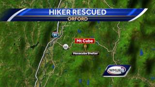 A hiker is recovering after suffering an injury while hiking on the Appalachian Trail on Mount Cube in Orford. Subscribe to WMUR...