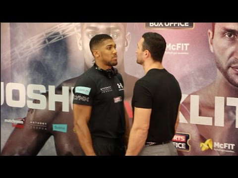 Anthony Joshua v Klitschko head-to-head