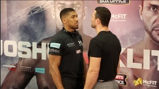 ANTHONY JOSHUA v  KLITSCHKO -  HEAD TO HEAD