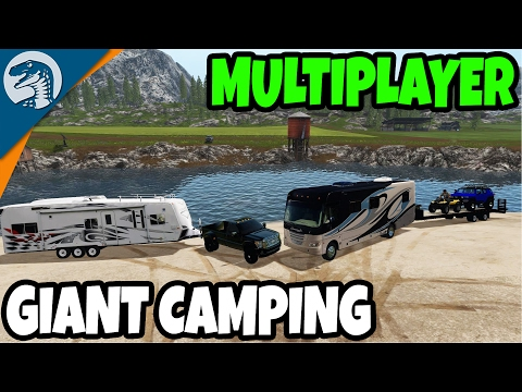 GIANT NATIONAL PARK CAMP SITE BUILD EVENT | Farming Simulator 17 Multiplayer Gameplay (видео)