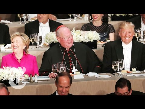 hillary clinton and donald j trump deliver remarks at the al smith charity dinner at the waldorf astoria in manhattan subscribe to the times video new