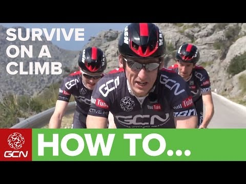 how to - Surviving on a climb isn't pretty, but it's often necessary. Subscribe to GCN on YouTube: http://gcn.eu/gcnsubs Suffering. We've all been there. Here are some tips to help you hang with the...