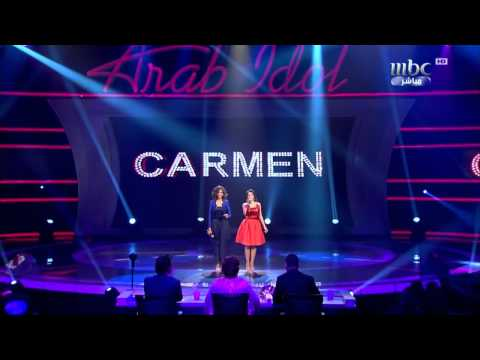 Arab Idol Finalists- Carmen Sulaiman and Donia Batma