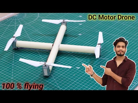 Dc मोटर से बनाये Drone. || 100 % flying. || how to make #drone using dc motor.
