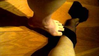 Using My Feet To Remove My Nylon Stockings