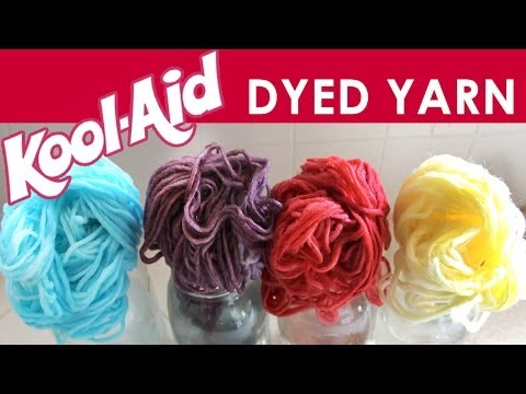 How to Dye Yarn with Kool-Aid | Summer Knit Series