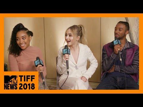 Amandla Stenberg, Sabrina Carpenter, & Algee Smith on 'The Hate U Give'   TIFF 2018   MTV News