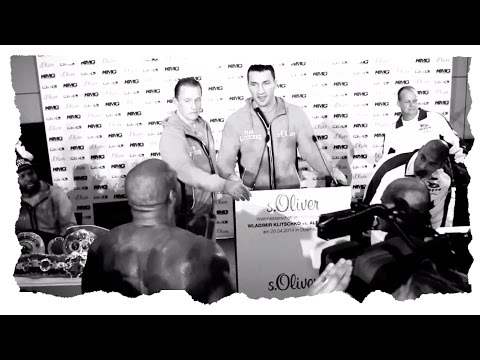 Conference - World Heavyweight Champion Wladimir Klitschko and mandatory challenger Alex Leapai press conference in Dusseldorf Germany. The presser is interrupted by former world champion Shannon Briggs....