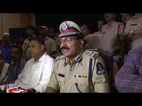 حیدرآباد میں بقرعید اور گنیش فیسٹول کے انتظامات پر کمشنر پولیس مہیندرریڈی کا ویڈیو