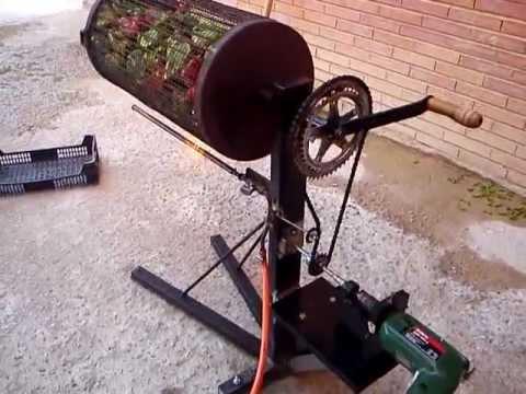Asador de pimientos motorizado
