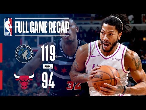 Video: FULL GAME RECAP: TIMBERWOLVES VS BULLS   DERRICK ROSE DROPS 24 IN CHICAGO