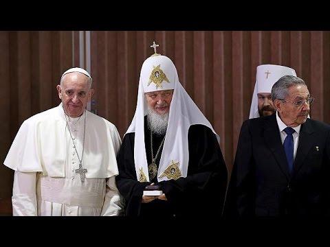 Για πρώτη φορά συναντήθηκαν Πάπας και Ρώσος Πατριάρχης