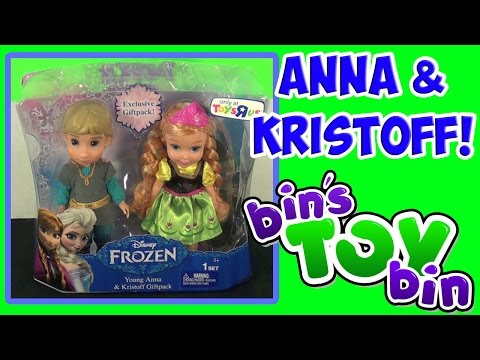 Bin - We open up this super cute Disney Frozen doll set of Young Anna and Kristoff. This Giftpack is an exclusive to Toys R Us. There is also a Deluxe Giftset that also includes Elsa, Olaf and...