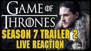 "Game of Thrones Season 7 Trailer #2 Live Reaction #WinterIsHere On the first day of summer #WinterIsHere ---Please Subscribe: https://www.youtube.com/user/theissuesguystuff?sub_confirmation=1Check out your favorite Shows Playlist! https://www.youtube.com/user/theissuesguystuff/playlistsSubscribe to our podcast on ITunes http://issuesprogram.com/itunes/https://itunes.apple.com/us/podcast/phils-recap-and-review-with-phil-theissuesguy-podcast/id943187265?mt=2Thanks for the support!---To help us Keep going and create more content  consider:Supporting the channel on Patreon: https://www.patreon.com/philtheissuesguyDonate to the Channel on Paypal:  https://www.paypal.me/PhiltheissuesguyAlso it really helps us to check out some off the offers and links bellow! http://www.audibletrial.com/Issues to sign up for 30 free days of Audible and get a free book! It helps us out BiG TIMEl! :)To get 30 days free with 1 games out on Gamefly sign up with the link: http://gameflyoffer.com/issuesSign up LootCrate! http://www.trylootcrate.com/issuesJoin the Record of the Month club: http://joinvmp.com/issues----Stay connected!Discord: https://discord.gg/0upUVdagXcUuzbfGGoogle Community: https://plus.google.com/u/0/communities/116286288385889495387Songs Used on the Show:  https://soundcloud.com/user-521817999And for more check out : http://Issuesprogram.com and our sisters channel http://youtube.com/dirtyissues for more fun!And If you have any questions or anything Call/Text 781 990 8509- 24/7Tweet @igotissuesmanor email igotissuesman@gmail.comThanks!http://issuesprogram.comhttps://twitter.com/igotissuesmanhttps://www.facebook.com/theissuesguyhttps://twitter.com/dirtylockzPartners/Associations Land Of ESH : http://www.electricsistahood.com http://www.youtube.com/dirtyissuesG4 Comic Etc: http://www.g4comicsetc.com------------------------------------------------------------------------------------------------------------------------------------------------------------------------Game of Thrones is an American fantasy drama television series created by David Benioff and D. B. Weiss. It is an adaptation of A Song of Ice and Fire, George R. R. Martin's series of fantasy novels, the first of which is titled A Game of Thrones.The Walking Dead is an American horror drama television series developed by Frank Darabont, based on the comic book series of the same name by Robert Kirkman, Tony Moore, and Charlie Adlard. Andrew Lincoln plays the show's lead character, sheriff's deputy Rick Grimes,[3] who awakens from a coma discovering a world overrun by zombies, commonly referred to as ""walkers"".[4] Grimes reunites with his family and becomes the leader of a group he forms with other survivors. Together they struggle to survive and adapt in a post-apocalyptic world filled with walkers and opposing groups of survivors, who are often more dangerous than the walkers themselvesBetter Call Saul is an American television crime drama series created by Vince Gilligan and Peter Gould. It is a spin-off prequel of Breaking Bad, which was also created by Gilligan.[3] Set in 2002, Better Call Saul follows the story of small-time lawyer James Morgan ""Jimmy"" McGill (Bob Odenkirk), six years before his appearance on Breaking Bad as Saul Goodman; events after the original series are briefly explored.[4]Vikings is an Irish-Canadian historical drama television series written and created by Michael Hirst for the television channel History. Filmed in Ireland, it premiered on March 3, 2013 in Canada and the United States.[1]Vikings is inspired by the sagas of Viking Ragnar Lothbrok, one of the best-known legendary Norse heroes and notorious as the scourge of England and France. The show portrays Ragnar as a farmer who rises to fame by successful raids into England, and eventually becomes a Scandinavian king,[nb 1] with the support of his family and fellow warriors: his brother Rollo, his son Björn Ironside, and his wives—the shieldmaiden Lagertha and the princess Aslaug.Westworld is an American science fiction thriller television series created by Jonathan Nolan and Lisa Joy for HBO. It is based on the 1973 film of the same name, which was written and directed by American novelist Michael Crichton. Nolan serves as executive producer along with Joy, J. J. Abrams and Bryan Burk with Nolan directing the pilot. The first episode premiered on October 2, 2016. The first season consists of ten episodes.[1]The program takes place in fictional Westworld, a technologically advanced, Western-themed amusement park populated completely by synthetic androids dubbed ""hosts"". Westworld caters to high-paying visitors dubbed ""newcomers"" (also known as ""guests""), who can do whatever they wish within the park, without fear of retaliation from the hosts."