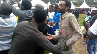 Oromo refugee's performing at the Nairobi University on Refugee Day 20th June..