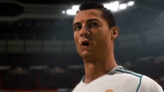 How FIFA 18 starts? Ronaldo Freekick | Madrid Derby Full Gameplay