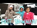 THEIR FIRST SNOWMAN! - February 06, 2017 - ItsJudysLife Vlogs