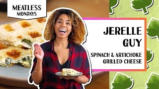 Spinach & Artichoke Grilled Cheese | Meatless Mondays | Jerrelle Guy by Tastemade