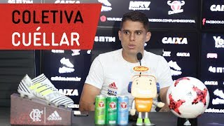Cuéllar concedeu entrevista coletiva no CT George Helal---------------Seja sócio-torcedor do Flamengo: http://bit.ly/1QtIgYl---------------Inscreva-se no canal oficial do Flamengo. Vídeos todos os dias.--- Subscribe at Flamengo channel, a 40-million-fans nation. Join us!