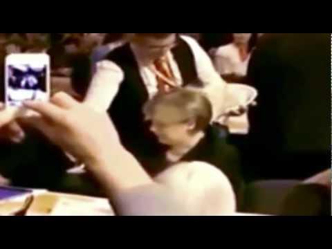 Angela Merkel Beer Bath