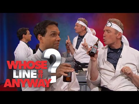Colin Mochrie & Ryan Stiles Are Ralph Macchio's Karate Instructor   Whose Line Is It Anyway?