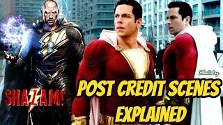 Shazam! End Credit Scenes Explained   Black Adam in SHAZAM-2!?