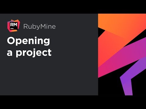 RubyMine tutorial | 1. Opening a project