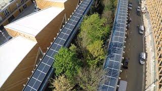 Städtische Architektur wird grün