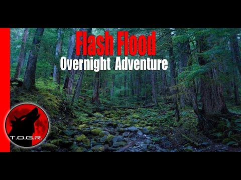 Mountain Flash Flood - Solo Overnight Adventure - Halloween Special