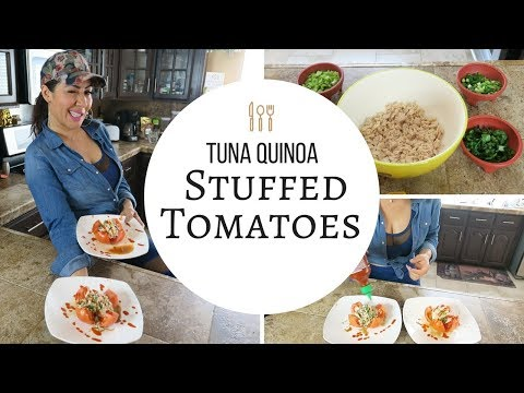 Tuna Quinoa Stuffed Tomatoes | RaqC