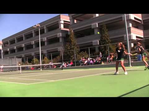 Cal Poly Women's Tennis Highlights versus Portland (March 29, 2013)