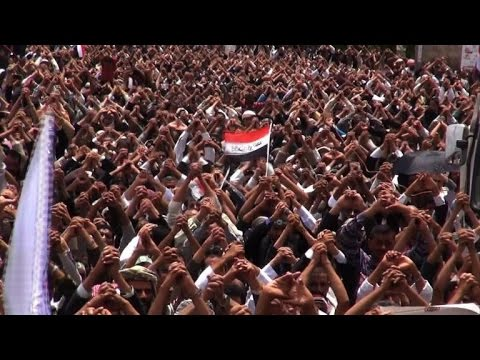 government - Tens of thousands of supporters of Yemen's Shiite rebels rallied Friday in the capital Sanaa to press for the ouster of the government while cabinet loyalist held a counter-demonstration. Duration:...