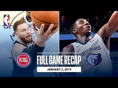 Video: Full Game Recap: Pistons vs Grizzlies | Power Forwards Duel - Blake vs Jaren