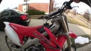 10. 2013 Honda CRF250R Walkaround + Startup