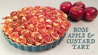 ROSE APPLE CUSTARD TART RECIPE by Ann Reardon How To Cook That ROSE DESSERT - YouTube