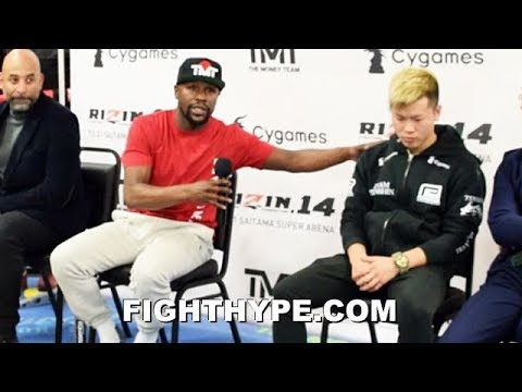 MAYWEATHER DISCUSSES 7-FIGURE EXHIBITION WITH TENSHIN NASUKAWA; REVEALS MORE TO COME