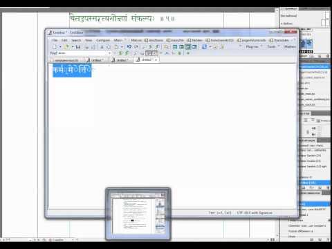 Proofreading a Sanskrit book