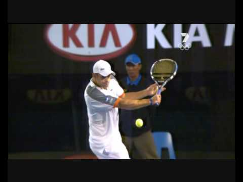 Andy Roddick's backhand slice- slow-motion