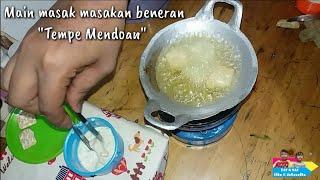 "Video Miniature Cooking ""Fried Tempe"" Indonesian tiny food    Main masak masakan beneran ""Tempe Mendoan"" MP3, 3GP, MP4, WEBM, AVI, FLV September 2018"