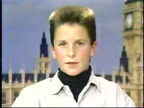 Christian Bale - Christian Bale interviewed by Joan Lunden while promoting Empire of the Sun, 1987.