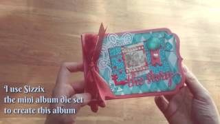 I use the Lori Whitlock album die set to create this cute mini with super cute paper pad that Carmen sent me!