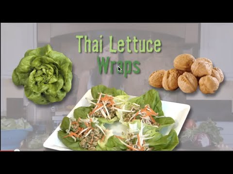 Thai Lettuce Wraps: Raw Food Recipe