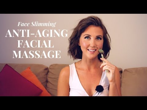 Anti Aging Facial Massage & Lymphatic Drainage Routine Using Jade Roller!