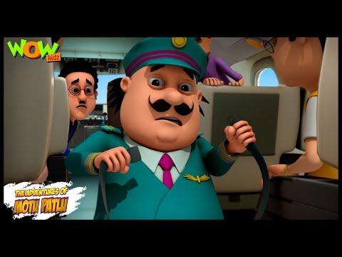 Motu Patlu Cartoons In Hindi |  Animated cartoon | Motu Patlu air bus | Wow Kidz