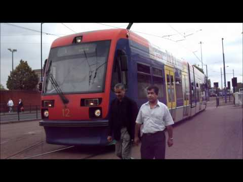 Trams at Wolverhampton St. George's tram station on 3/9/11