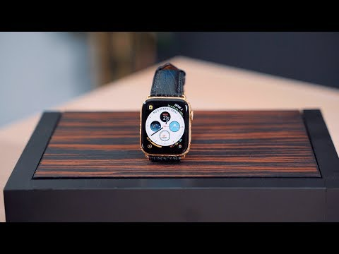 Custom Engraved $2,200 Gold-Plated Apple Watch Series 4!